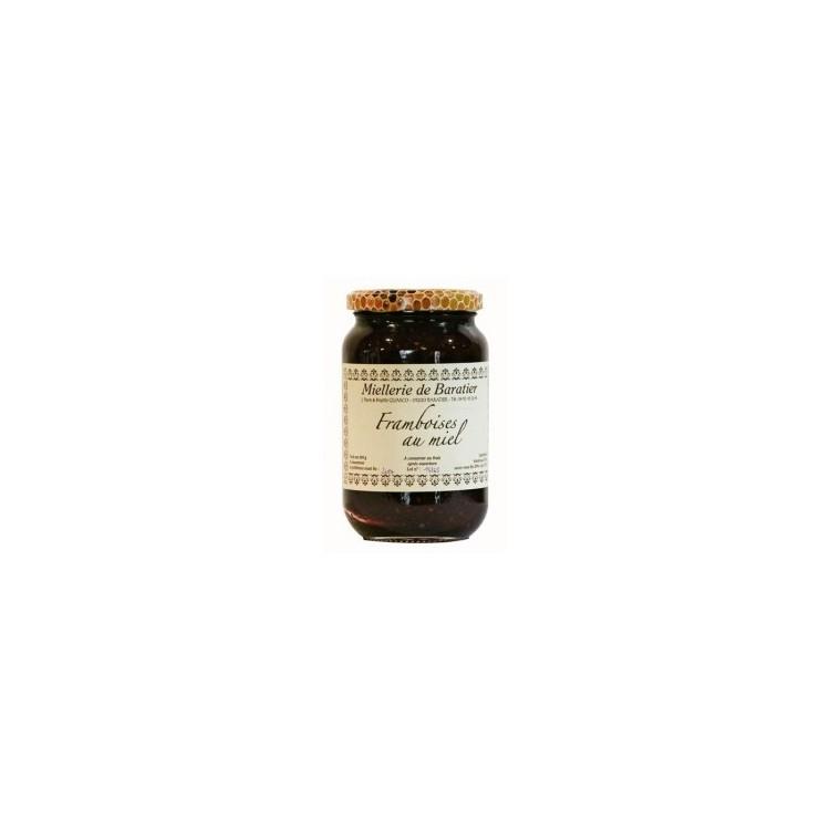 Confiture de framboises au miel