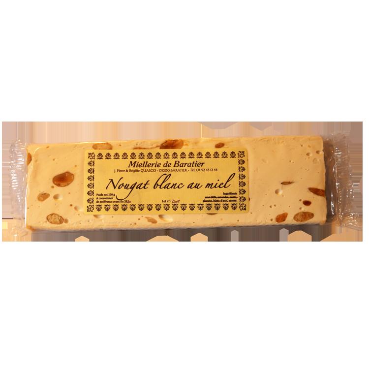 Nougat blanc au miel